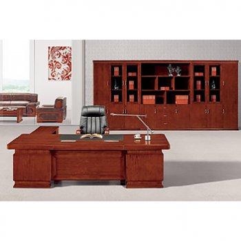 单人老板桌办公桌实木...