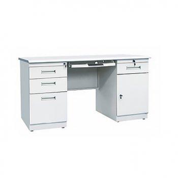 钢制铁皮办公桌电脑桌...