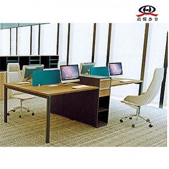办公家具4人对桌双人...
